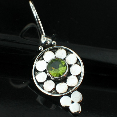 wholesale Sterling Silver Gemstone Charm Pendant (pnc324prf)