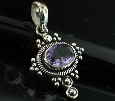 Sterling silver Amethyst (2ctw) <br>On Sale Through June 4 Pendant ID=ps307amef