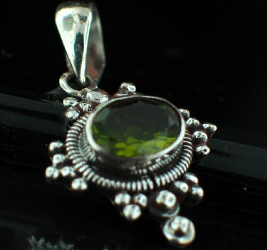 Sterling silver Peridot (5 ctw) <br>On Sale Through June 4 Pendant ID=ps307prf