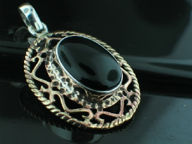 Sterling Silver & Brass Pendant (psb301bx)
