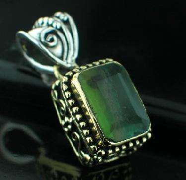 Sterling silver SB - Flourite (15ctw) Pendants_SilverBrass ID=psb486fl