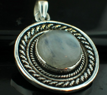 Sterling silver SP - Rainbow Moonstone Pendants_SilverPlated ID=psp17rm