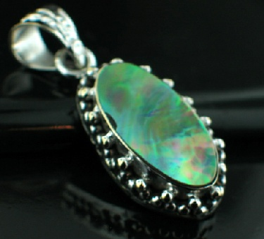 Sterling silver SP - Abalone Shell Pendants_SilverPlated ID=psp26mp