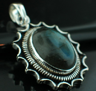 Sterling silver SP - Labradorite (15x20mm) Pendants_SilverPlated ID=psp37lb