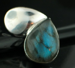 Sterling silver SP - Labradorite  (20mm) Pendants_SilverPlated ID=psp480lb