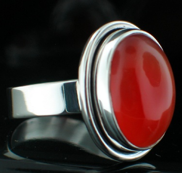 wholesale Sterling Silver Gemstone Ring (rg152car)
