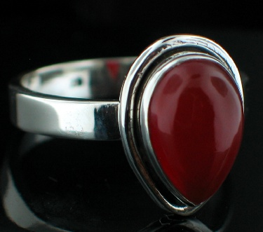 wholesale Sterling Silver Gemstone Ring (rg152car_9)