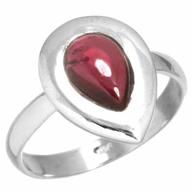 wholesale Sterling Silver Gemstone Ring (rg218gr_8)