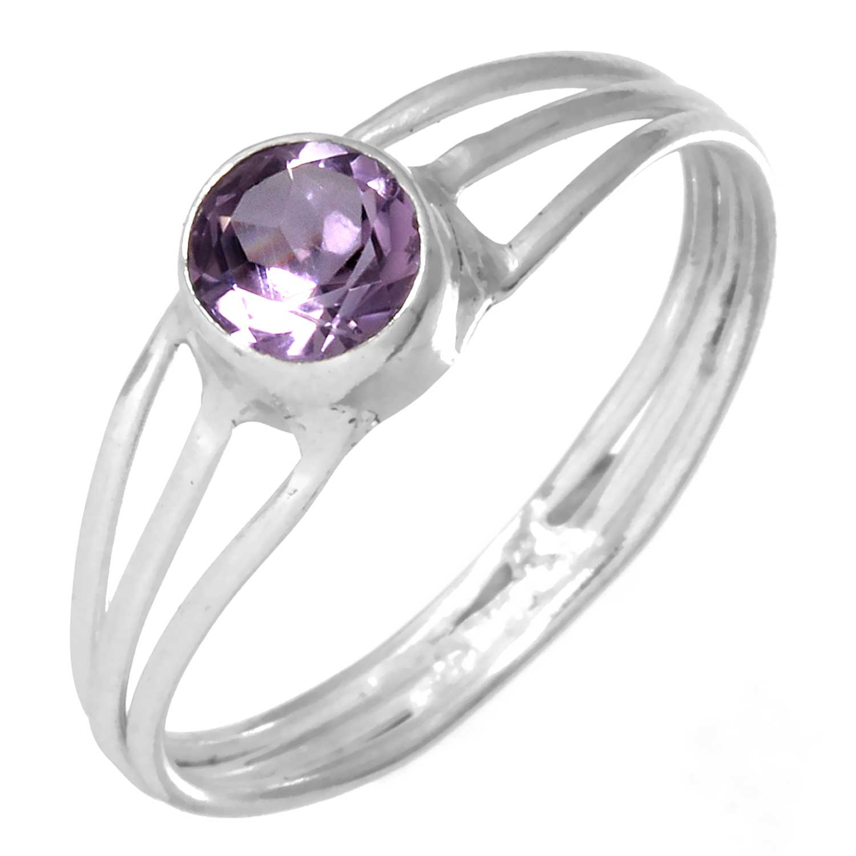 Sterling silver Amethyst (1.5ctw) Ring ID=rg703amef