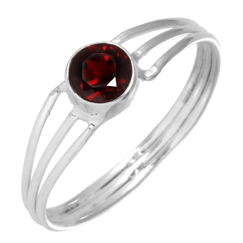 Sterling silver Garnet  (1ctw) Ring ID=rg703grf