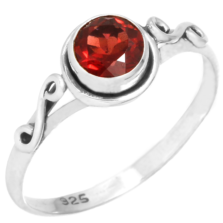 Sterling silver Garnet (1ctw) Ring ID=rg705grfb
