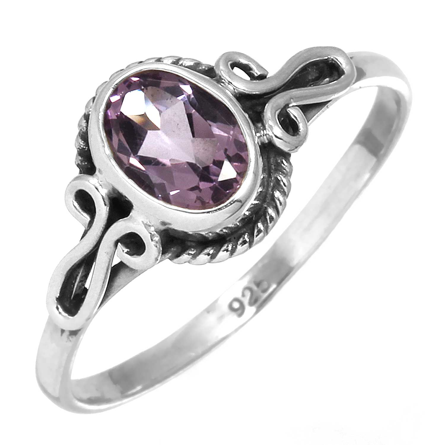 wholesale Sterling Silver Gemstone Ring (rg706amef_8)