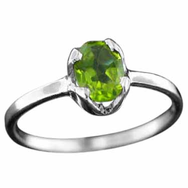 Sterling silver Peridot (1.5ctw) Ring ID=rg707prf