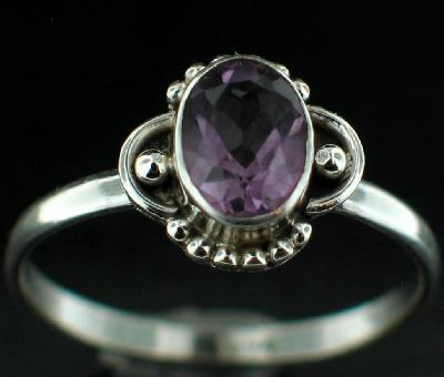 Sterling silver Amethyst (1.5ctw) Ring ID=rg719amef