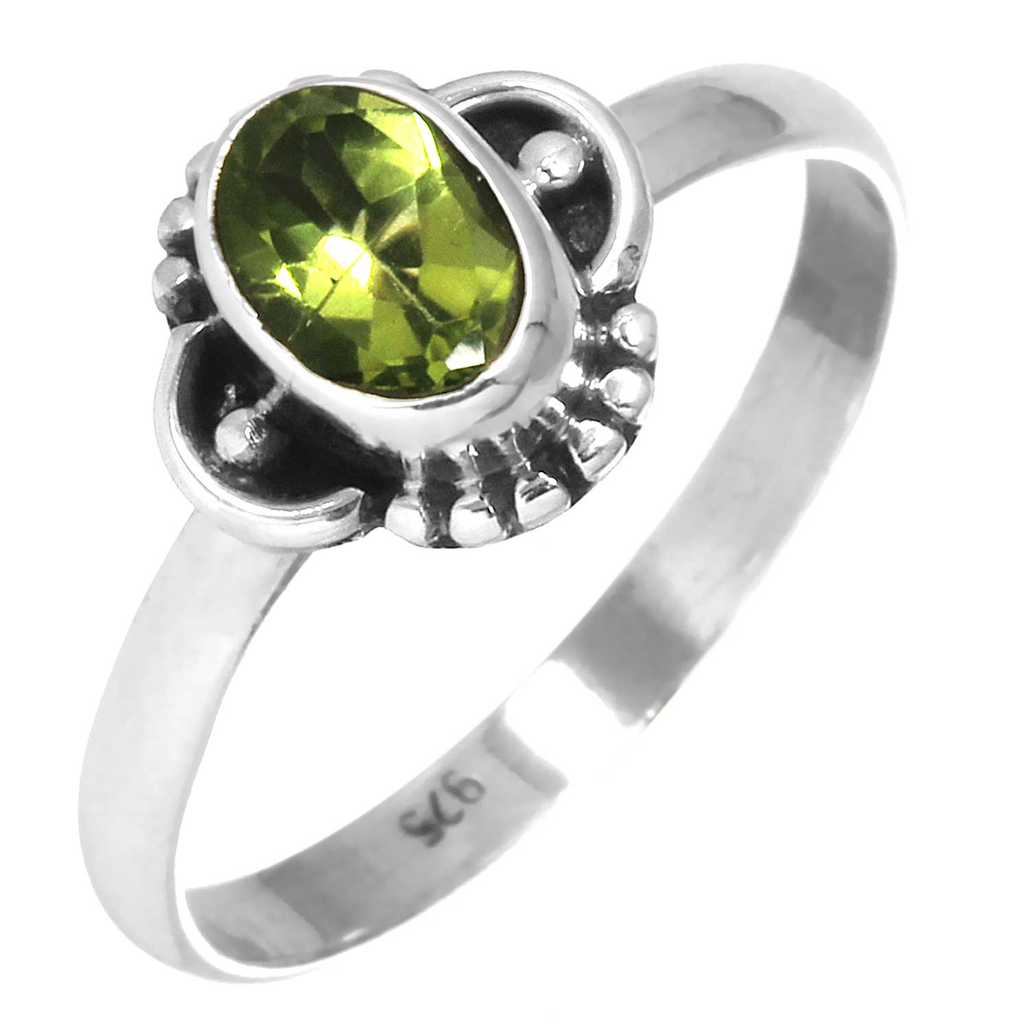 Sterling silver Peridot (2ctw) Ring ID=rg719prf