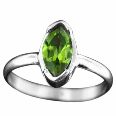 Sterling silver Peridot (3ctw) Ring ID=rg724prf