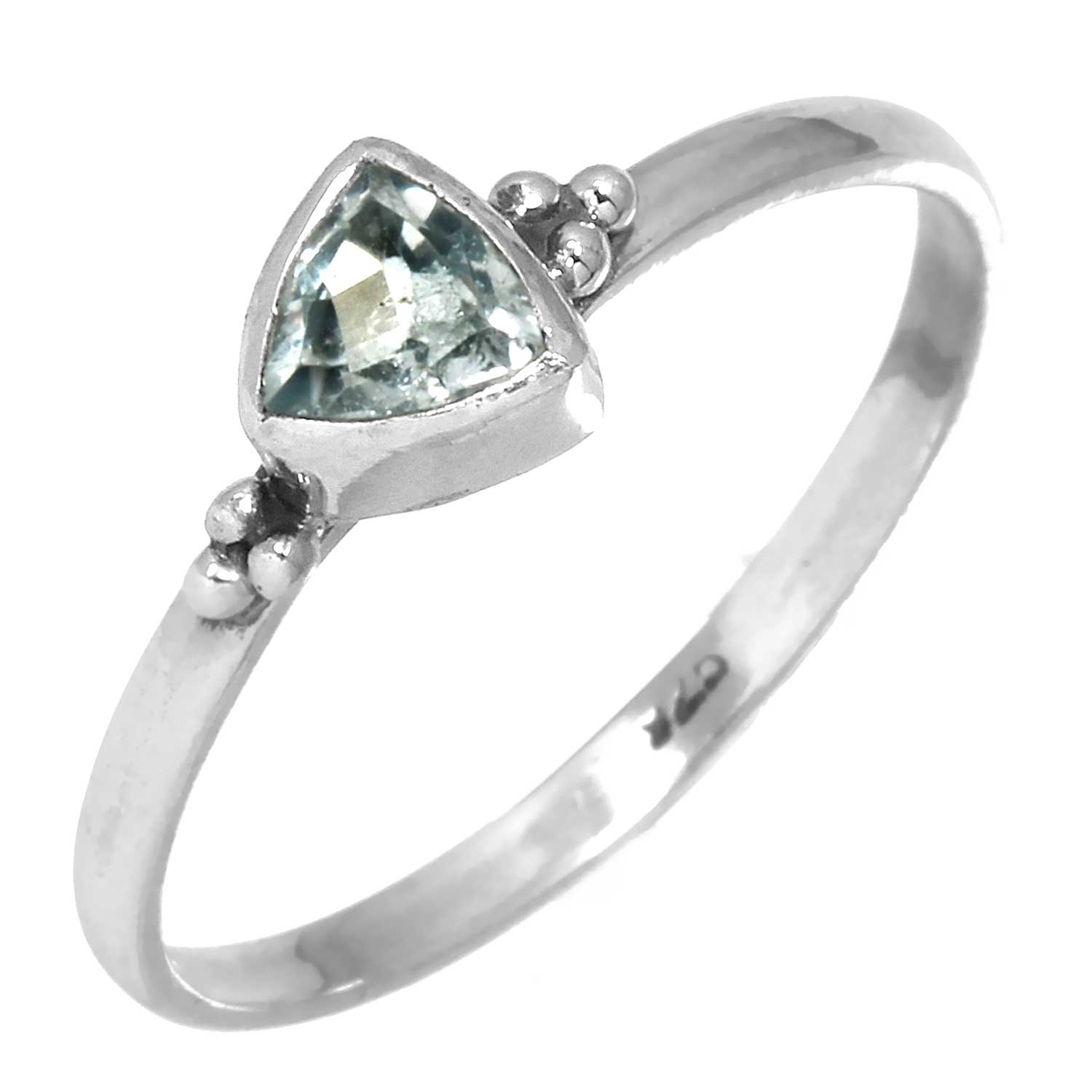 wholesale Sterling Silver Gemstone Ring (rg801btpf_7)
