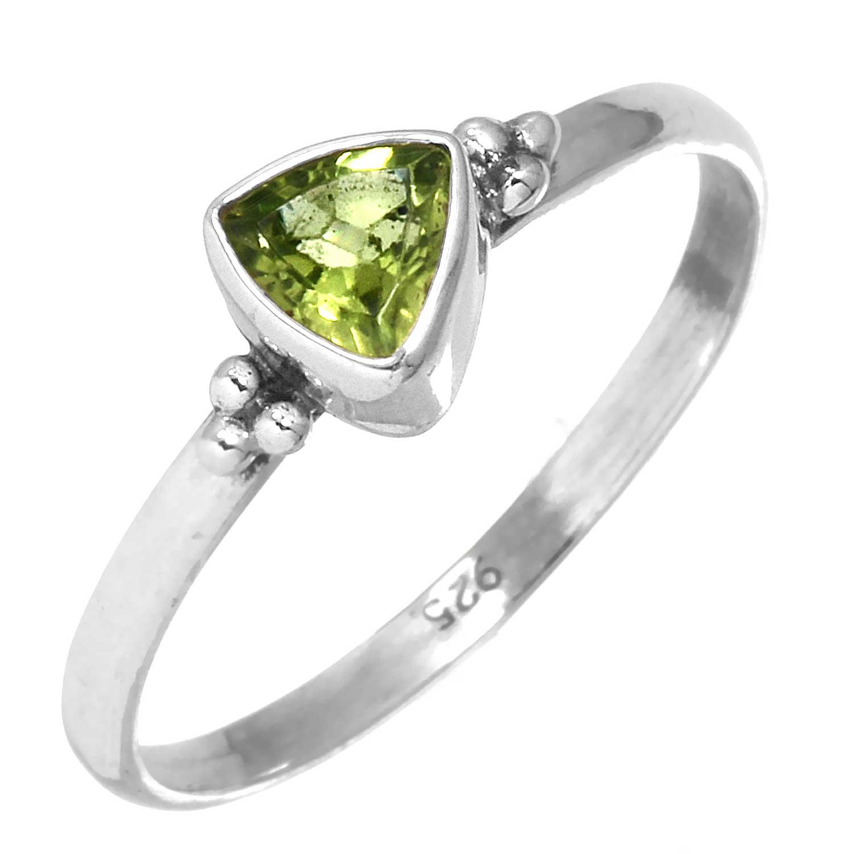 Sterling silver Peridot (1.5ctw) Ring ID=rg801prf