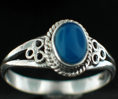 wholesale Sterling Silver Gemstone Ring (rg803bl_9)