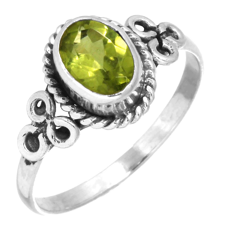 Sterling silver Peridot Ring ID=rg803prf