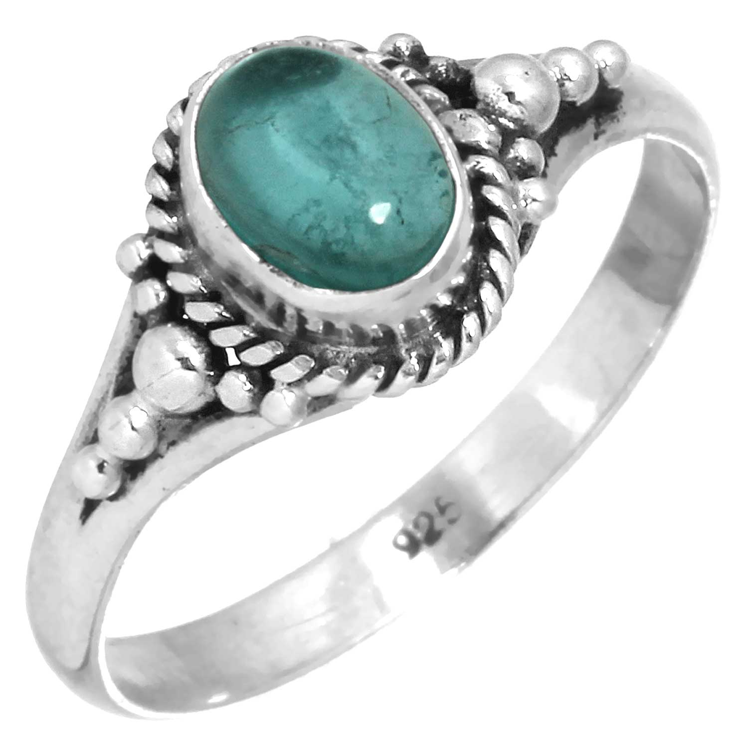 wholesale Sterling Silver Gemstone Ring (rg806fl)