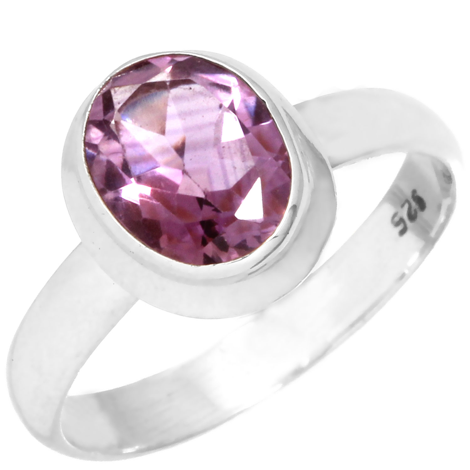 wholesale Wholesale Sterling Silver Gemstone Ring (rg970amef)