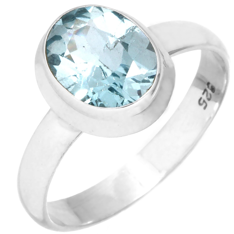 Sterling silver Blue Topaz (3ctw) Ring ID=rg970btpf