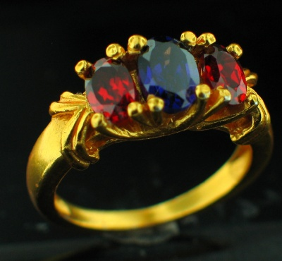 wholesale 24k Gold Plated Ring (rgg119mx_9)