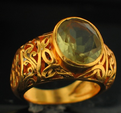 24k Gold Plated Ring (rgg305LQ)