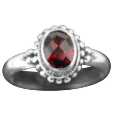 Sterling silver Garnet (2ctw) Ring ID=rn107grf