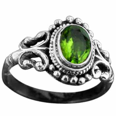 Sterling silver Peridot (3ctw) Ring ID=rn40prf