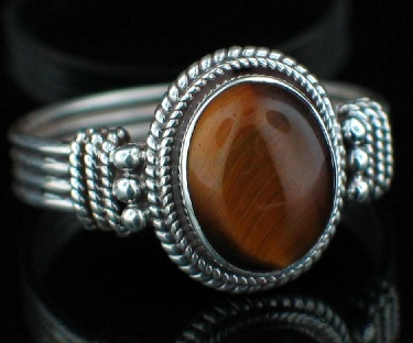 wholesale Large Sterling Silver And Gemstone Ring (rns620tg_B_Custom)