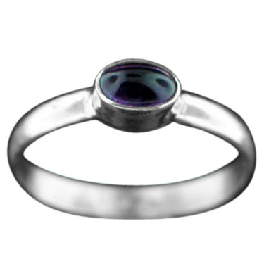 wholesale Sterling Silver Gemstone Stackable Ring (rst02ame_Oval_6)
