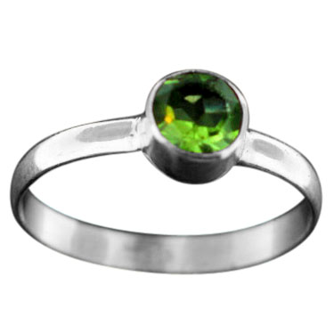 Stackable Ring - silver gemstone (rst02prf)