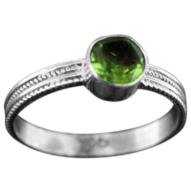 wholesale Stackable Sterling SIlver & Gemstone Ring (rst03prf)