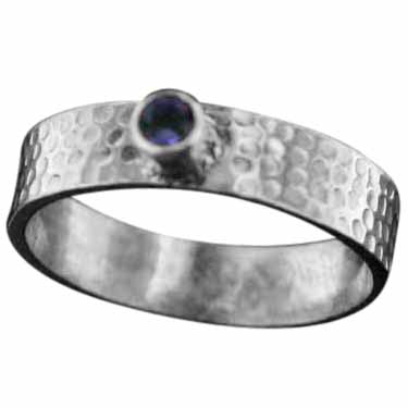 Stackable Ring with Gemstone (rst09amef)