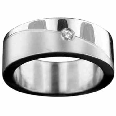 Sterling silver Stainless Steel Ring StainlessSteelRing ID=srg23