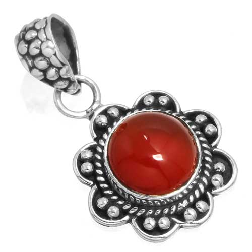 Wholesale Extended Line of Wholesale Pendants (Product ID = 14911_P_Red_Onyx_3.70)