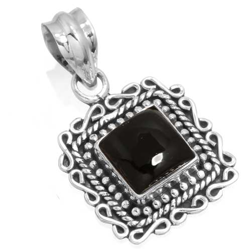 Wholesale Extended Line of Wholesale Pendants (Product ID = 14916_P_Black_Onyx_4.50)