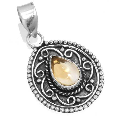 Wholesale Extended Line of Wholesale Pendants (Product ID = 14943_P_Citrine_4.00)