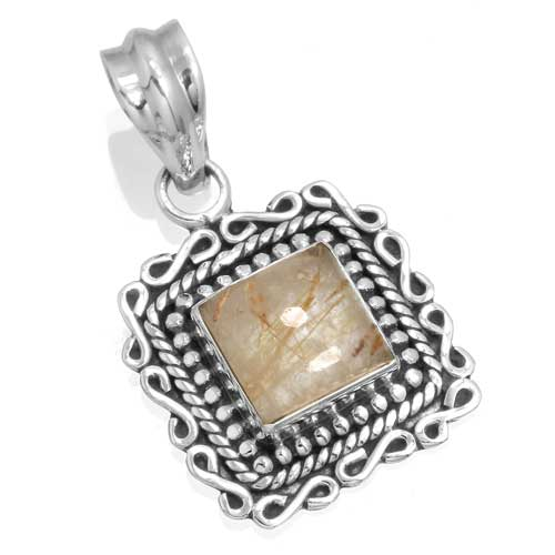 Wholesale Extended Line of Wholesale Pendants (Product ID = 14952_P_Golden_Rutile_4.30)
