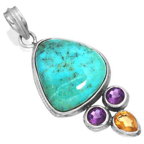 Wholesale Extended Line of Wholesale Pendants (Product ID = 16052_P_Turquoise_8.30)