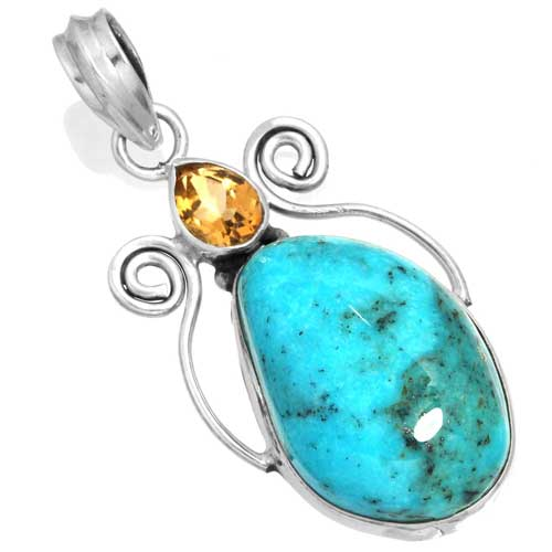 Wholesale Extended Line of Wholesale Pendants (Product ID = 16055_P_Turquoise_6.20)