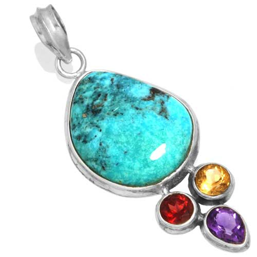 Wholesale Extended Line of Wholesale Pendants (Product ID = 16058_P_Turquoise_7.50)