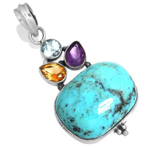 Wholesale Extended Line of Wholesale Pendants (Product ID = 16059_P_Turquoise_7.50)