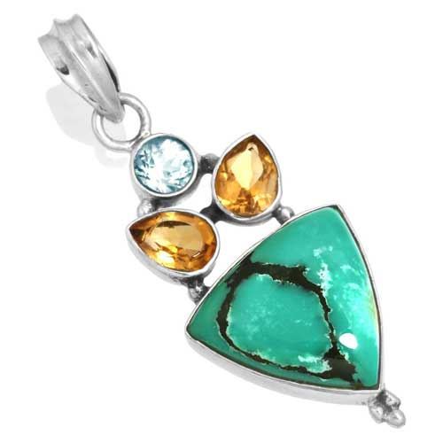 Wholesale Extended Line of Wholesale Pendants (Product ID = 16061_P_Turquoise_4.70)