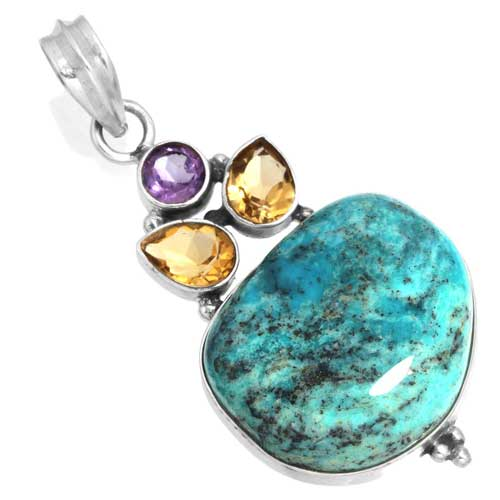 Wholesale Extended Line of Wholesale Pendants (Product ID = 16062_P_Turquoise_7.40)