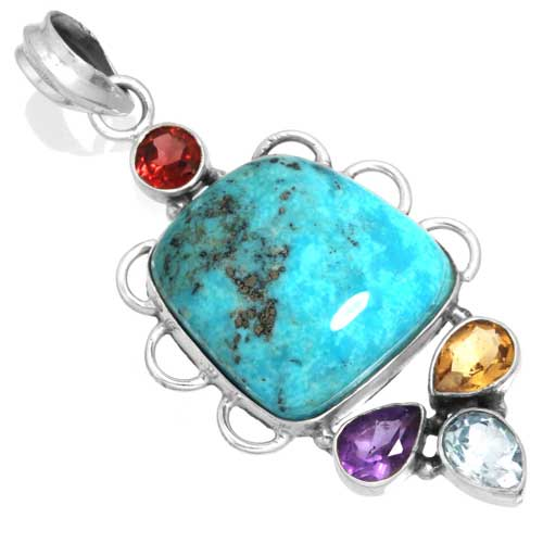 Wholesale Extended Line of Wholesale Pendants (Product ID = 16064_P_Turquoise_7.70)