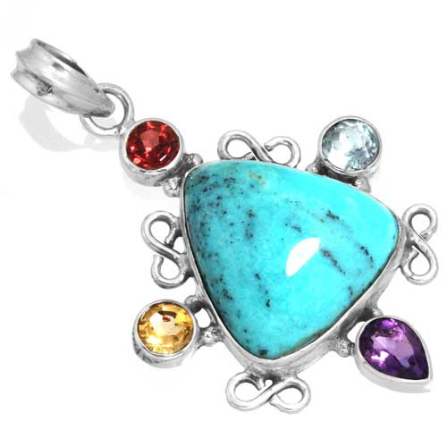 Wholesale Extended Line of Wholesale Pendants (Product ID = 16065_P_Turquoise_7.00)