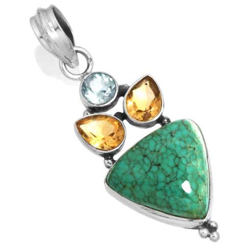 Wholesale Extended Line of Wholesale Pendants (Product ID = 16066_P_Turquoise_4.50)